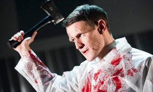 Matt Smith playing Patrick Bateman in American Psycho at the Almeida theatre in London