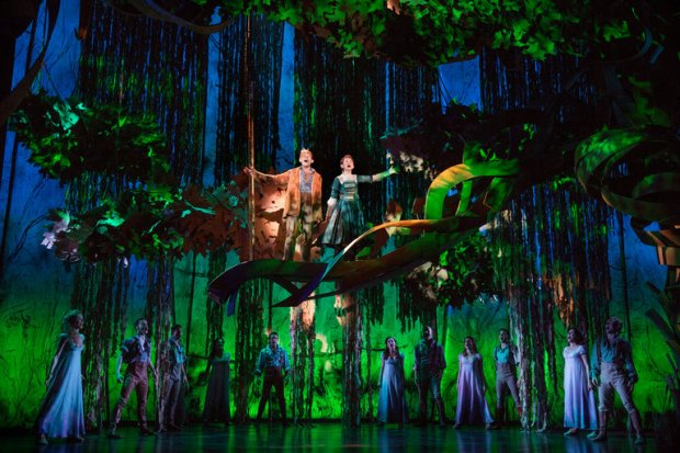 """Andrew Keenan-Bolger and Sarah Charles Lewis in """"Tuck Everlasting."""" Photo by Sara Krulwich/The New York Times"""