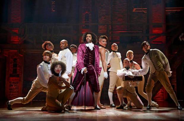 Daveed Diggs as Thomas Jefferson in Hamilton. (Photo by Joan Marcus)