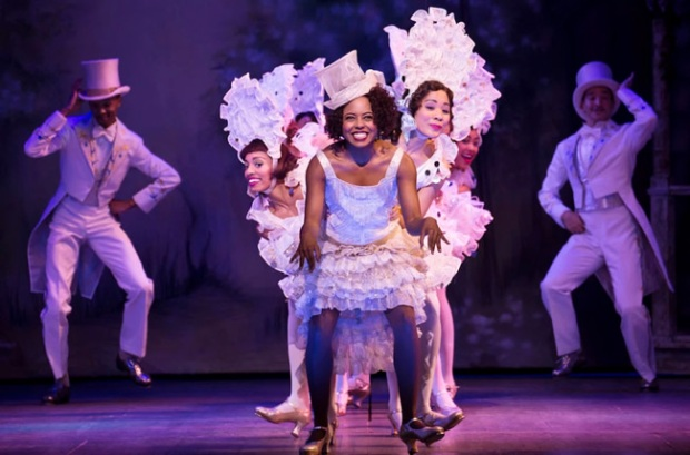 Adrienne Warren and the company of Shuffle Along. Photo by Julieta Cervantes