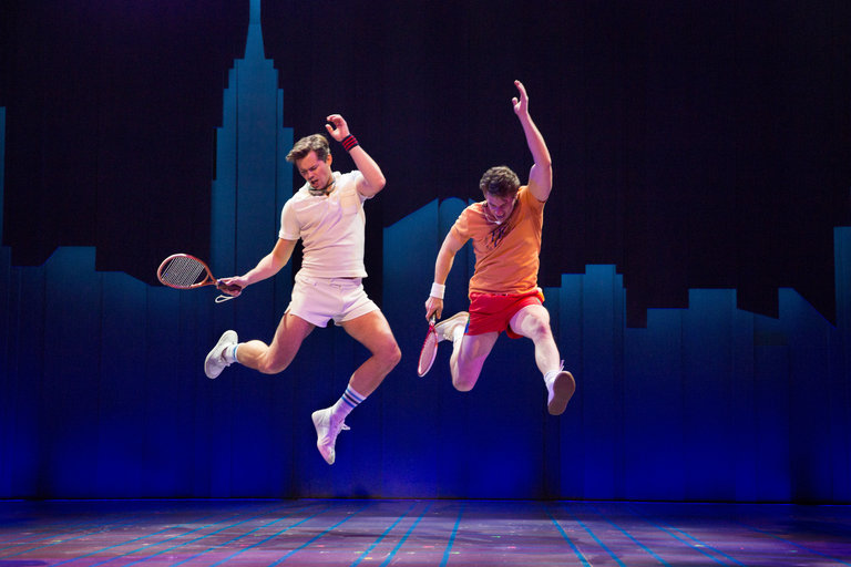 Andrew Rannells and Christian Borle in FALSETTOS. Photo by Sara Krulwich/The New York Times