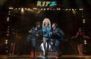 "Adrienne Warren, center, as Tina Turner in ""Tina,"" a new Broadway bio-musical. 